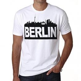 Berlin tee shirt herren,t shirts,t shirt herren mit aufdruck,weiß,Baumwolle - 1