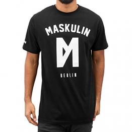 Maskulin Herren T-Shirt Berlin schwarz schwarz L - 1