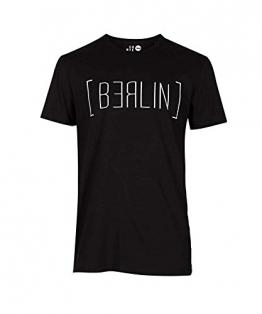 Solid Herren T-Shirt - Berlin, schwarz, Größe:L - 1