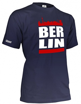 BERLIN SKYLINE - HERREN - T-SHIRT in Navy by Jayess Gr. XXL - 1