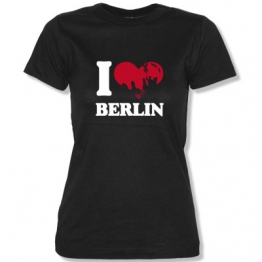 I LOVE BERLIN... Damen T-Shirt Schwarz Gr. S - 1