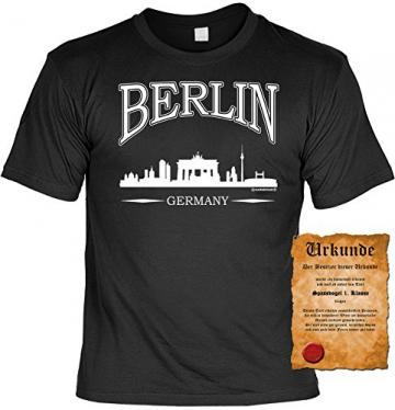 T-Shirt mit Urkunde - Berlin Germany - Lustiges Sprüche Shirt als Geschenk für echte Berliner mit Humor - 2